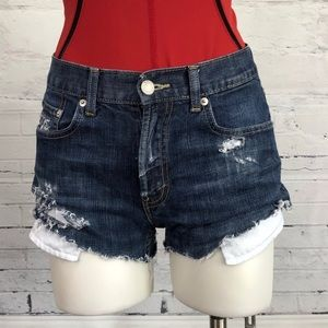 Levi Distressed Cut Off Jean Shorts Stretchy  1176